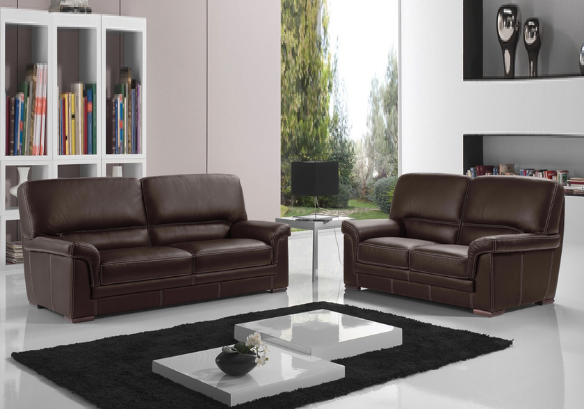 canap cuir design marron anita canap salon cuir italy pas cher. Black Bedroom Furniture Sets. Home Design Ideas