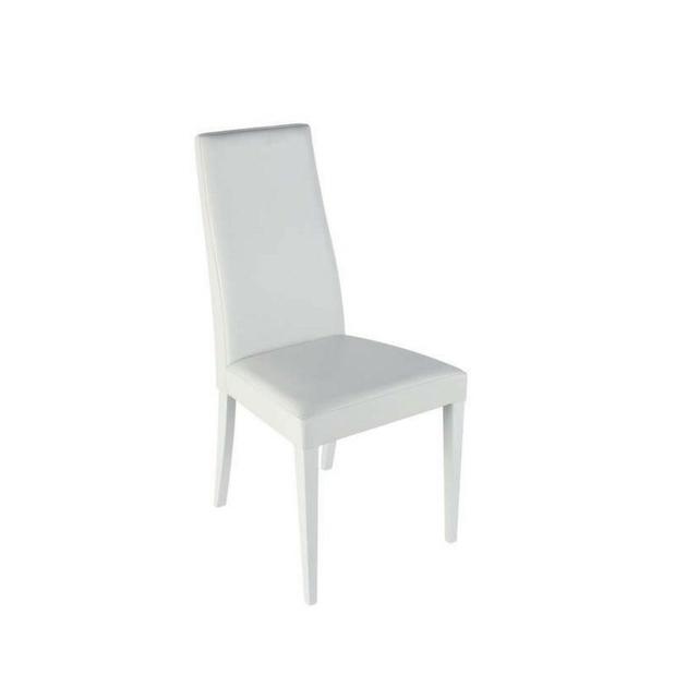 chaise-simili-cuir-pieds-laques-blanc-dragon