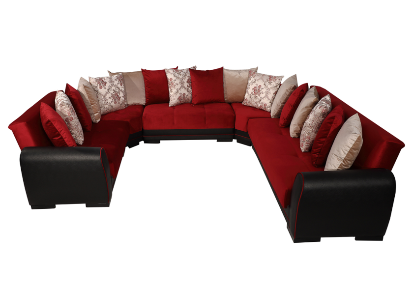 Canape U Modulable Bordeaux Flex Salon Oriental Design Moderne