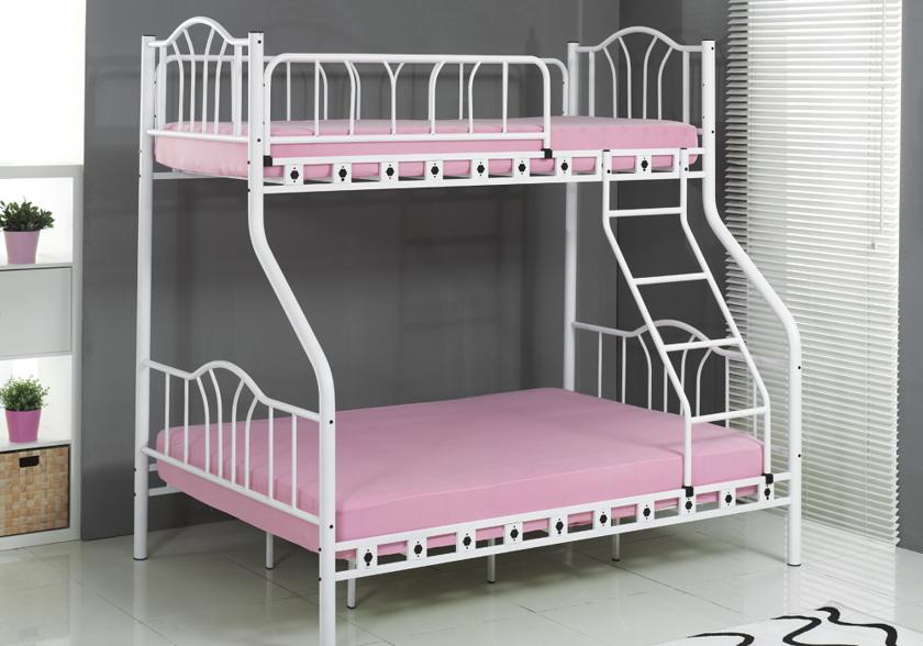 lit superpos m tal blanc 2 1 places imaj superpos. Black Bedroom Furniture Sets. Home Design Ideas