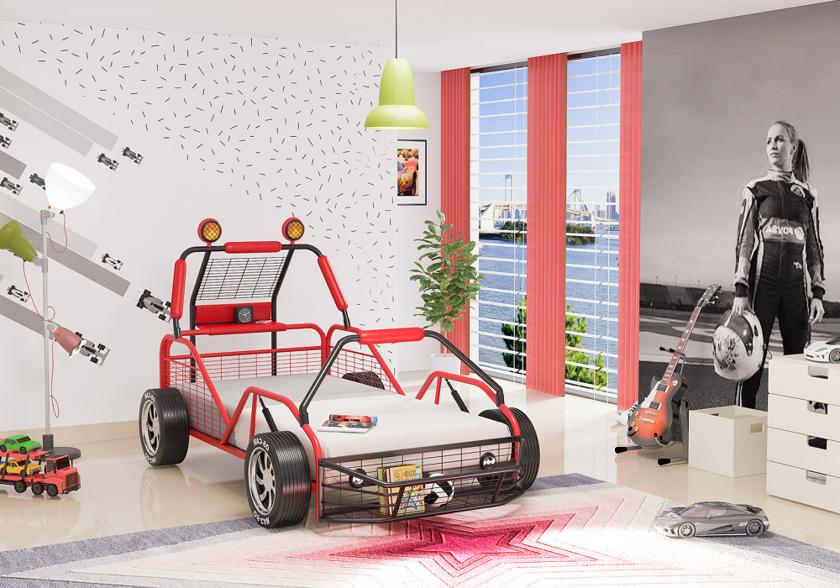 Lit enfant voiture buggy OSCAR - Chambre &Lit Enfant Lit Buggy..