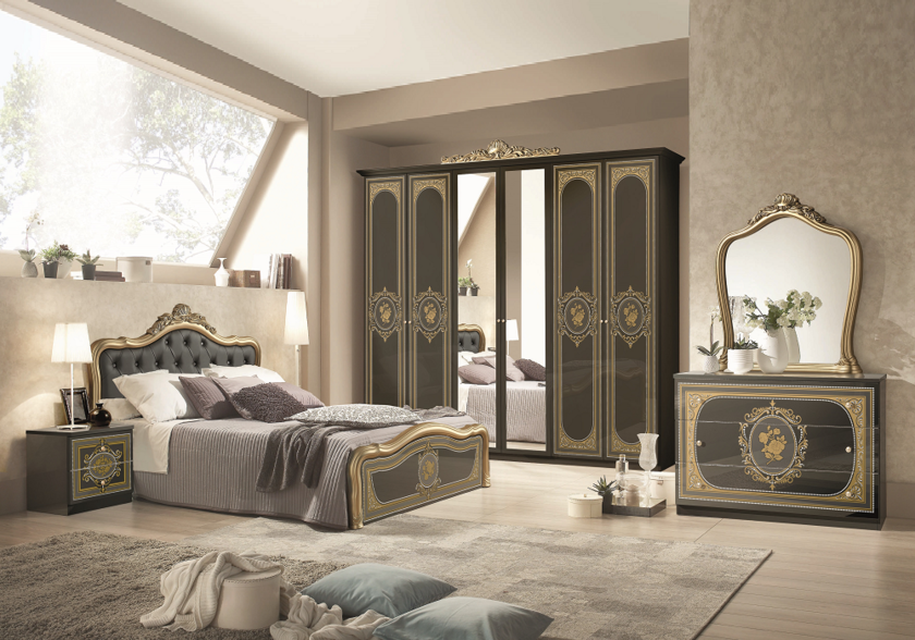 chambre-alice-capitonné-noir-or.4