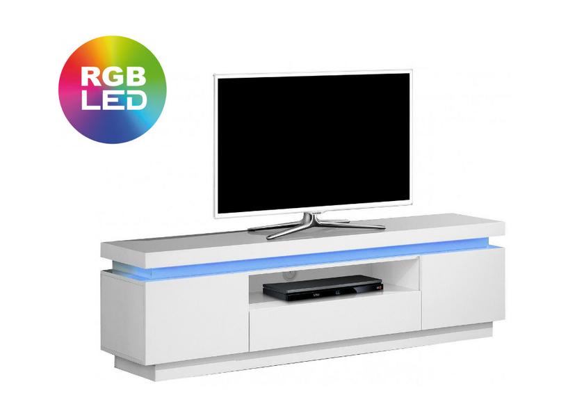 Meuble Tv laqué blanc LED OPRA
