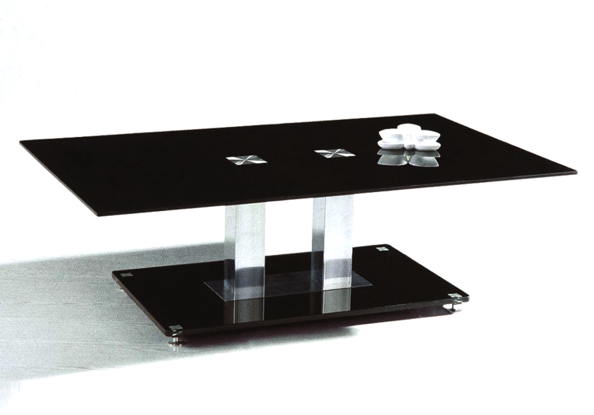 Table basse chromé verre trempé FLAT