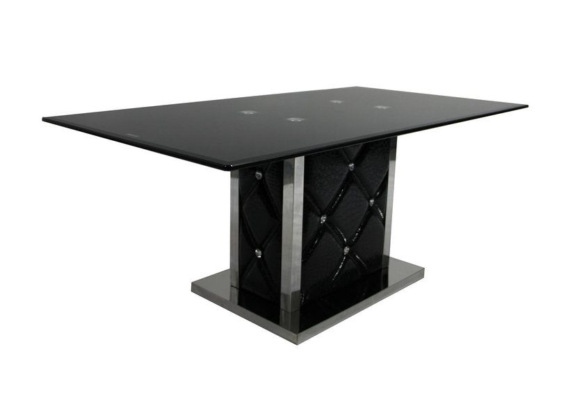 Basse Trempé Designamp; Table Strass Noir Pas Cher Chromé Verre qVpSUGzM