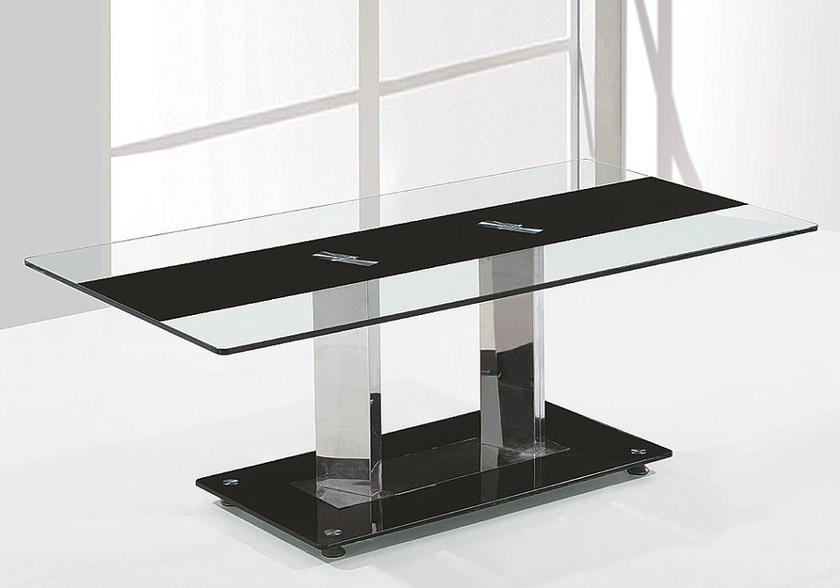 Table basse chromé verre trempé TAM