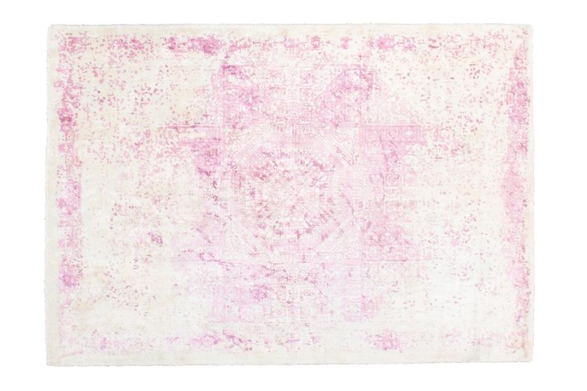 Tapis Vintage Tisse Main Rose Silk Tapis Haut De Gamme Pas Cher