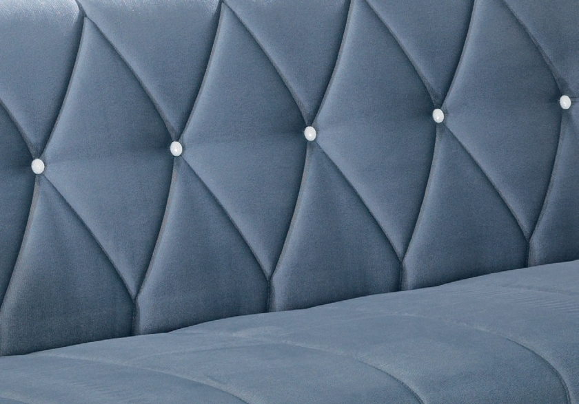 Canapé angle lit coffre velours gris OPÉRA-1