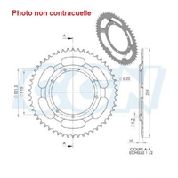 Couronne 48 dents MBK 68 88 89 roue à rayons