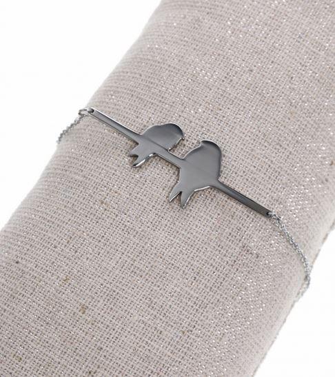 bracelet couple acier inoxydable