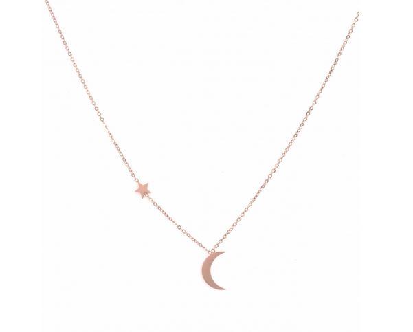 collier lune étoiles