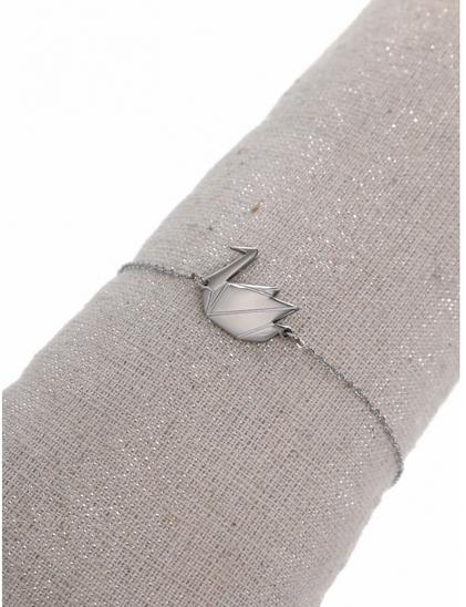 Bracelet cygne argent H1.4cm L1.5cm acier inoxydable Milë Mila  M1C134B 14.4