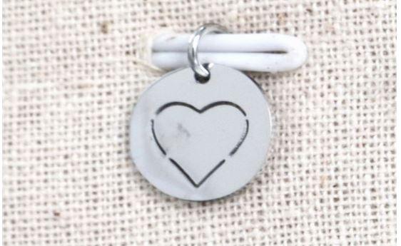 Pendentif coeur pré-découpé argent H1.0cm L1.0cm acier inoxydable - Mile Mila M18A005