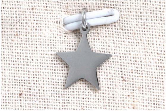Pendentif étoile argent H1.1cm L1.1cm acier inoxydable - Mile Mila M18A010