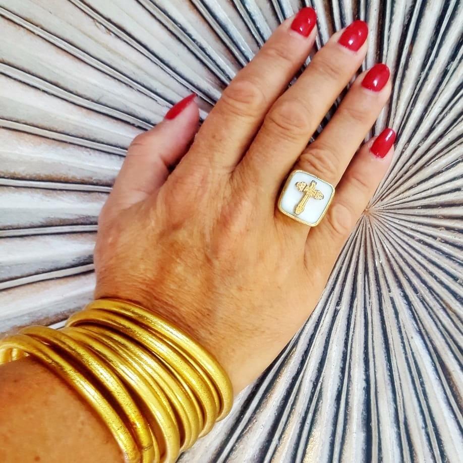 Bracelet FIN Ø7 jonc temple tibétain bouddhiste poudre d'or et huile dans tube scellé – La Belle Simone Bijoux