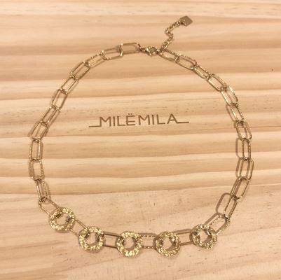 Collier grosses mailles pendentif H1.20cm x L1.20cm inoxydable doré - Mile Mila  M19N263 21.9