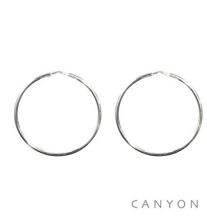 E1683-40 Boucles d'oreilles créoles fines en argent 40mm 29€