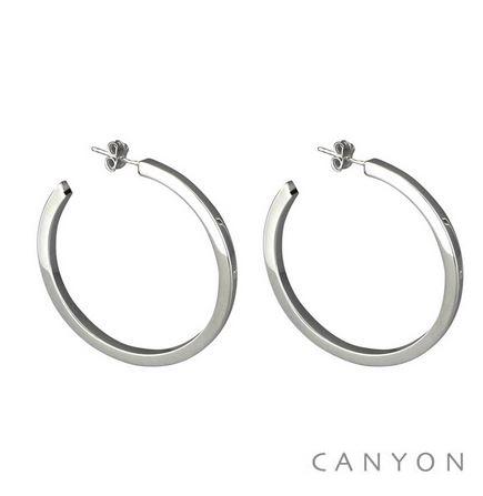 E2864 Boucles d'oreilles créoles Section Carré moyen modèle diamètre intérieur 4cm 52€