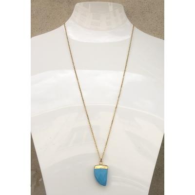 Collier pendentif turquoise chaine plaqué or La Belle Simone