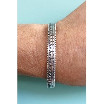 Bracelet jonc modèle GOUTTES en zamak argent SHABADA