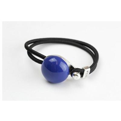 Bracelet galet céramique bleu et élastique collection Confetti GEVOLE