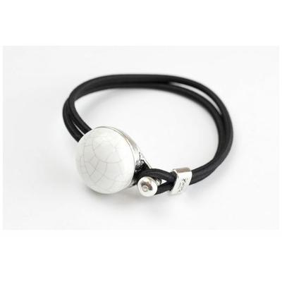 Bracelet galet céramique craquelé et élastique collection Confetti GEVOLE