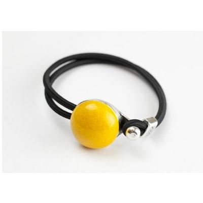 Bracelet céramique jaune et élastique collection Confetti GEVOLE