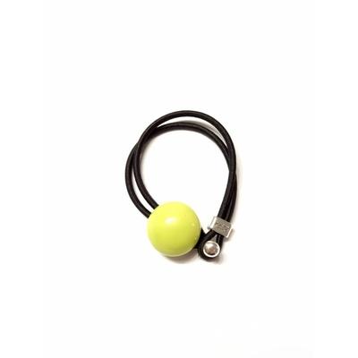 Bracelet céramique jaune nacré et élastique collection Confetti GEVOLE