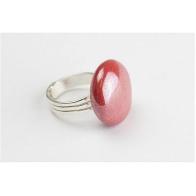 bague céramique rose nacré réglable modèle xs Gevole