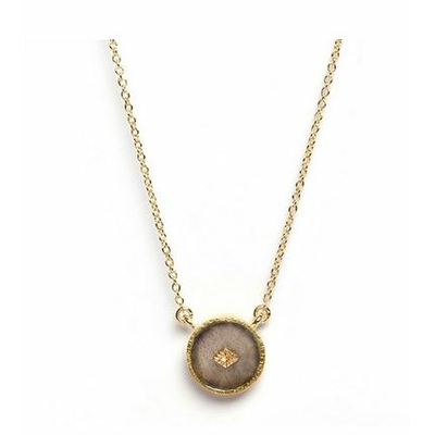 Collier Labradorite ronde plaqué or collection sanja Be Maad