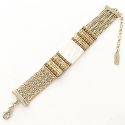Bracelet Nacre hématites tissage de miyuki collection June Bijoux Satellite
