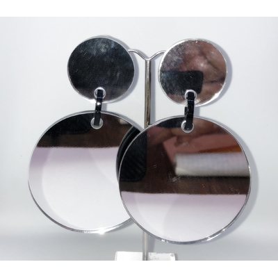 Boucles d'oreilles clip miroir disque Marion Godart