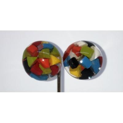 BO cabochon confettis multicouleurs résine clips Marion Godart