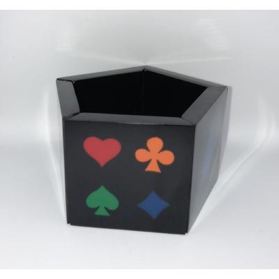 Bracelet noir 5 faces jeu de cartes résine élastiqué Marion Godard
