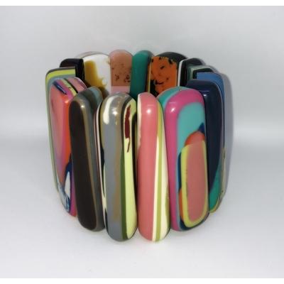 Bracelet multi-couleurs résine élastiqué Marion Godart