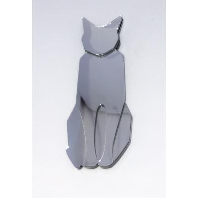 broche chat miroir 9,5 cm x 3,5 cm Marion Godart