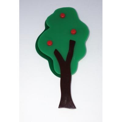 Broche arbre 9,5 cm x 3,5 cm résine Marion Godart