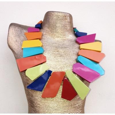 Collier multi-couleurs résine Marion Godart