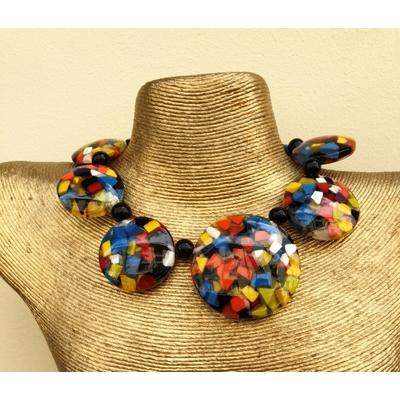 Collier confettis multi-couleurs résine Marion Godart