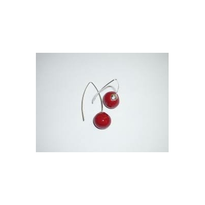 BO crochet céramique rouge modèle Griotte Gévole