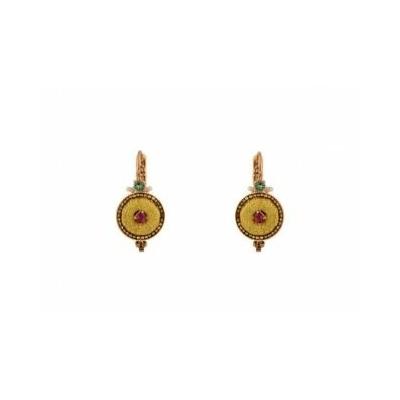 BO dormeuses cristaux Swarrovski et velours doré petit modèle Collection Annouck - bijoux Satellite