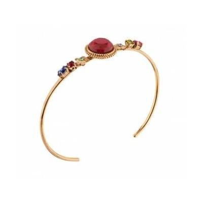 Bracelet jonc cristaux Swarovski rose Collection Annouck - bijoux Satellite