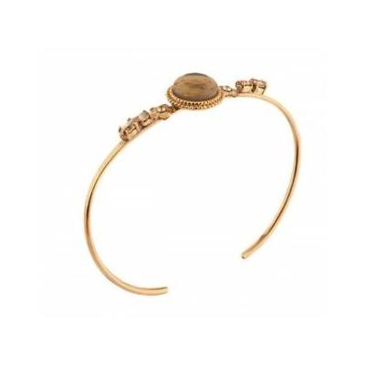Bracelet jonc cristaux Swarovski doré Collection Annouck - bijoux Satellite