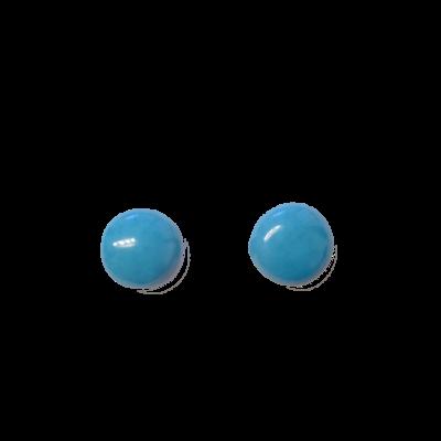 BO puces bleu turquoise céramique Micro Gévole