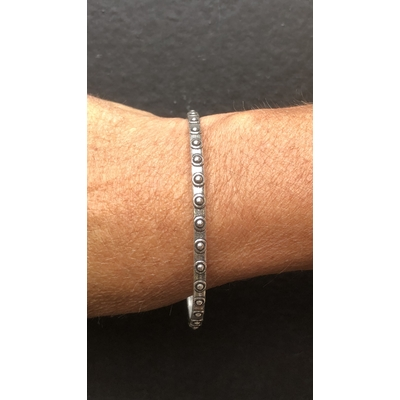 Bracelet jonc modèle BOUTONS en zamak argent SHABADA
