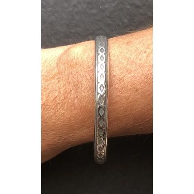 Bracelet jonc modèle TJO38 en zamak argent SHABADA