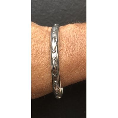 Bracelet jonc modèle TJO36 en zamak argent SHABADA