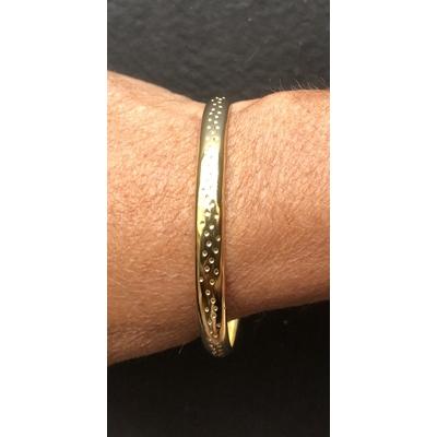Bracelet jonc modèle POINTS en zamak doré SHABADA