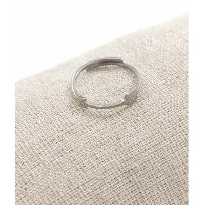 Bague réglable flèche fine argent  pendentif  0.4cm x 1.6cm acier inoxydable - Milë Mila