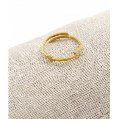 Bague réglable flèche fine doré pendentif  0.4cm x 1.6cm acier inoxydable - Milë Mila
